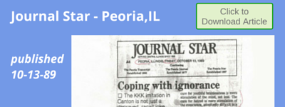 """Coping With Ignorance"" Journal Star, Peoria,IL 10-13-89"